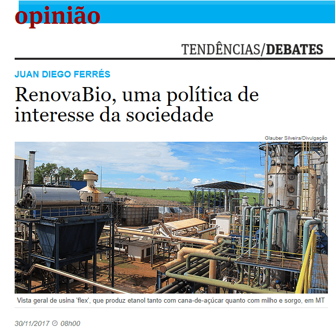 RenovaBio, uma política de interesse da sociedade