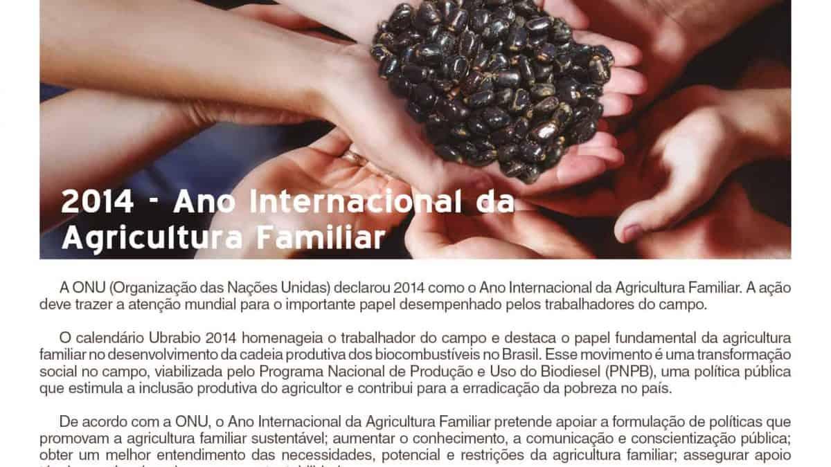 2014 – O Ano Internacional da Agricultura Familiar