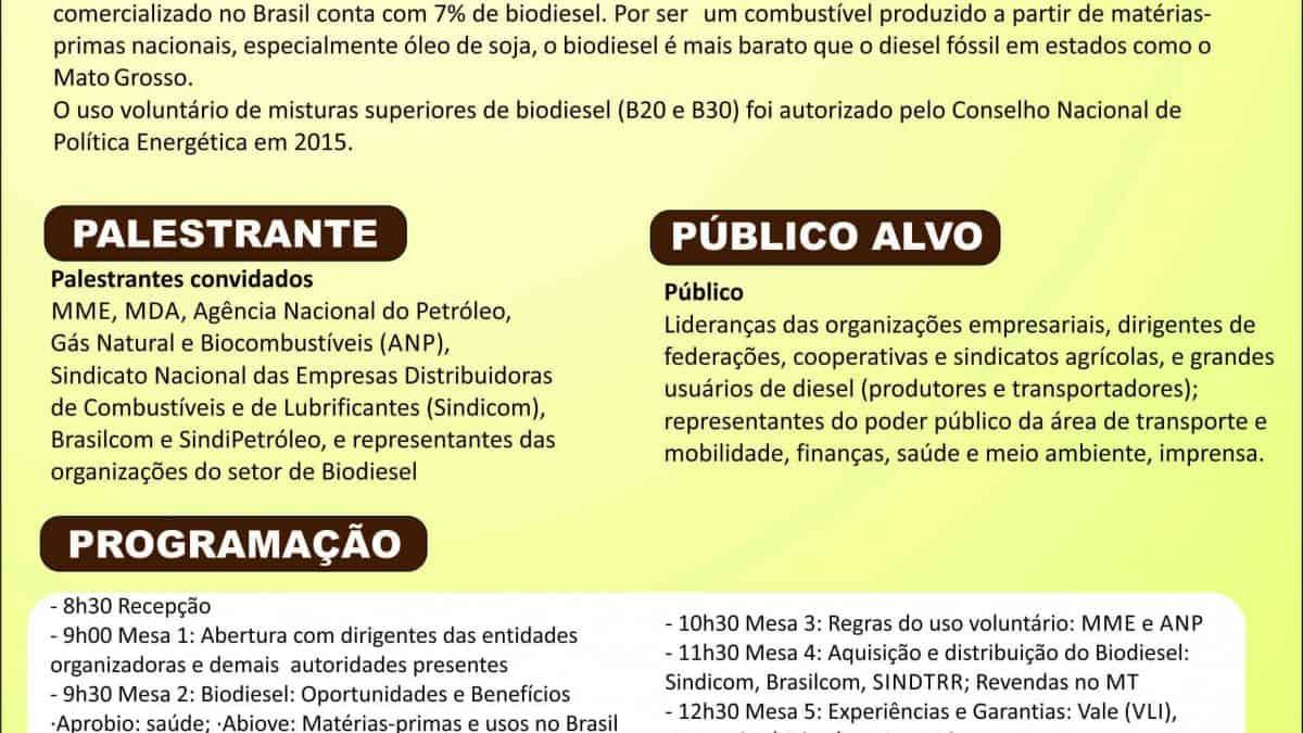 Encontro em Cuiabá-MT vai discutir sustentabilidade com empresários