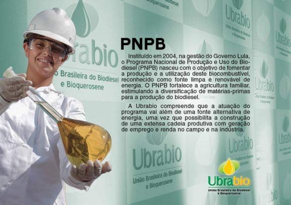 Instituído em 2004, na gestão do Governo Lula, o Programa Nacional de Produção e Uso do Biodiesel (PNPB) nasceu com o objetivo de fomentar a produção e a utilização deste biocombustível, reconhecido como fonte limpa e renovável de energia