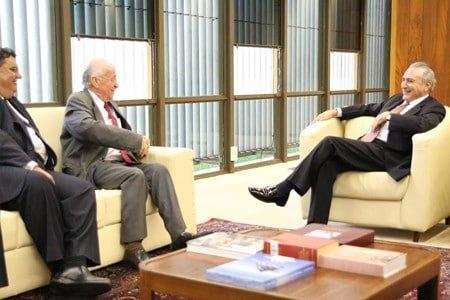 Ubrabio reúne-se com o vice-presidente da República, Michel Temer