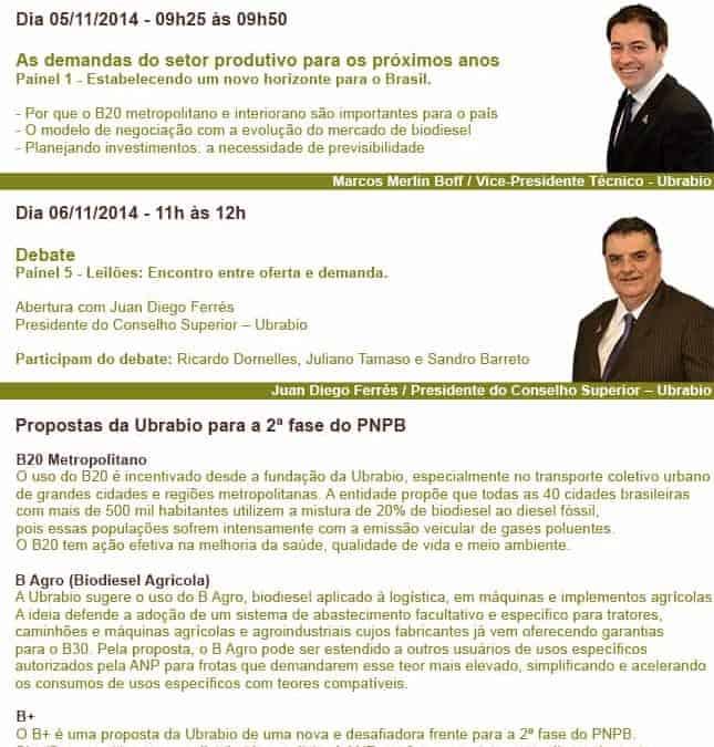 Ubrabio participa de congresso internacional de biodiesel