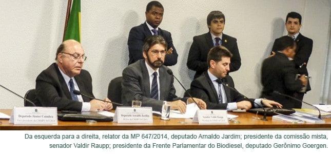 Comissão aprova relatório da MP do biodiesel