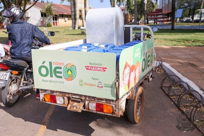 Sorriso adere ao Projeto Novo Óleo e dá continuidade ao trabalho de reciclagem de óleo de frituras