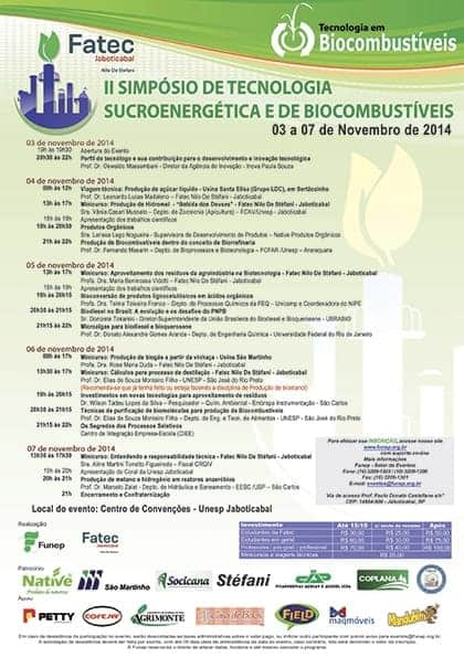 Microalgas para biodiesel e avanços no PNPB serão discutidos no II Simpósio de Tecnologia Sucroenergética e de Biocombustíveis