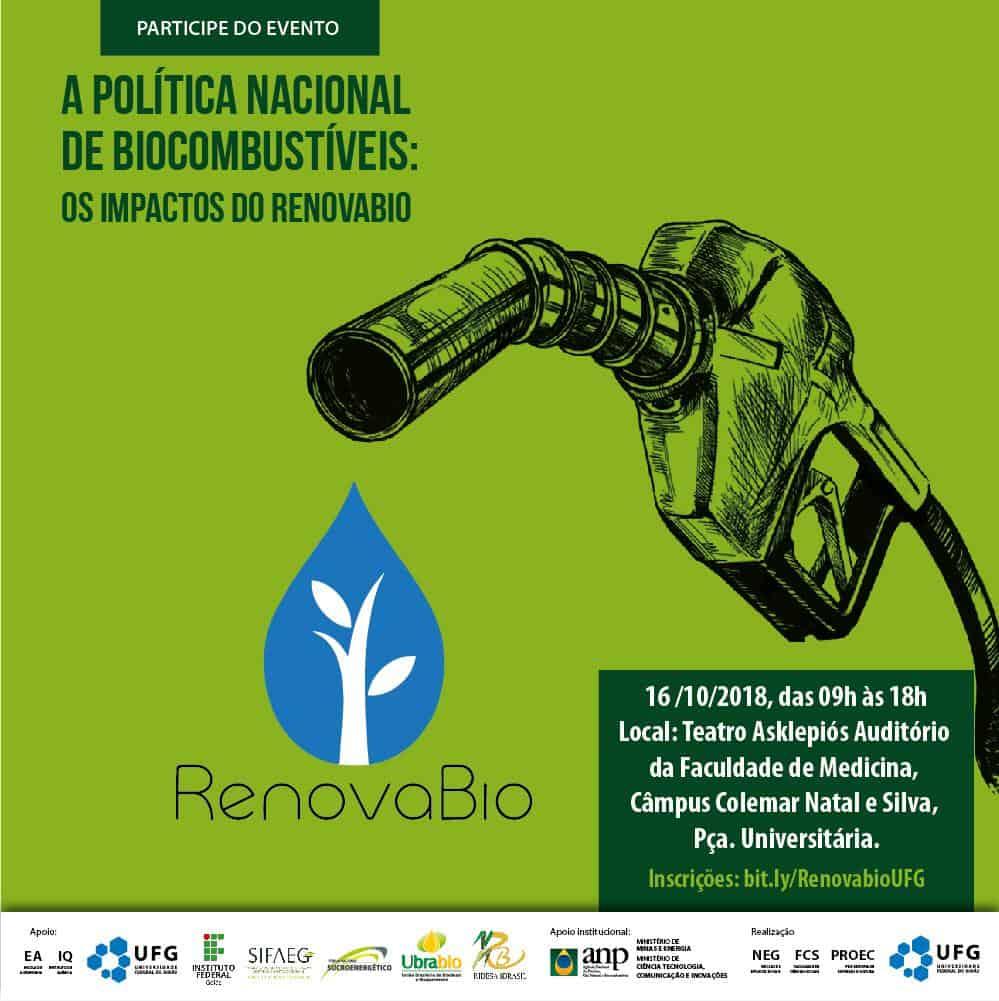 """CONPEEX 2018 - """"A Política Nacional de Biocombustíveis: Os Impactos do RenovaBio"""" @ Goiás-GO"""