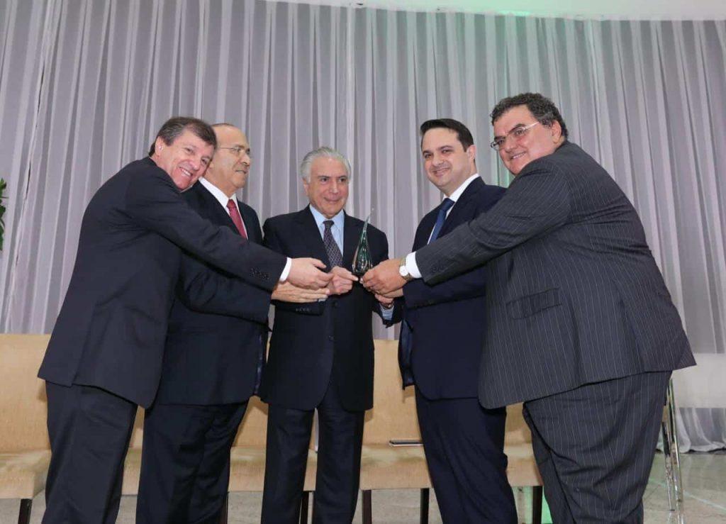 Homenagem do setor de biodiesel ao presidente da República, Michel Temer (Foto: André Coelho)