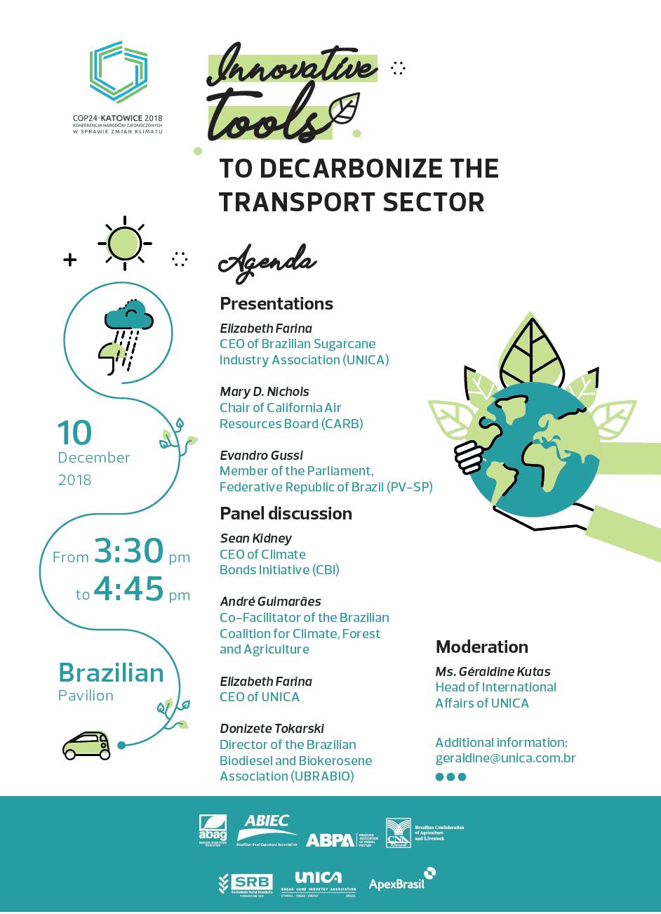 Ferramentas inovadoras para descarbonizar o setor de transporte @ COP24