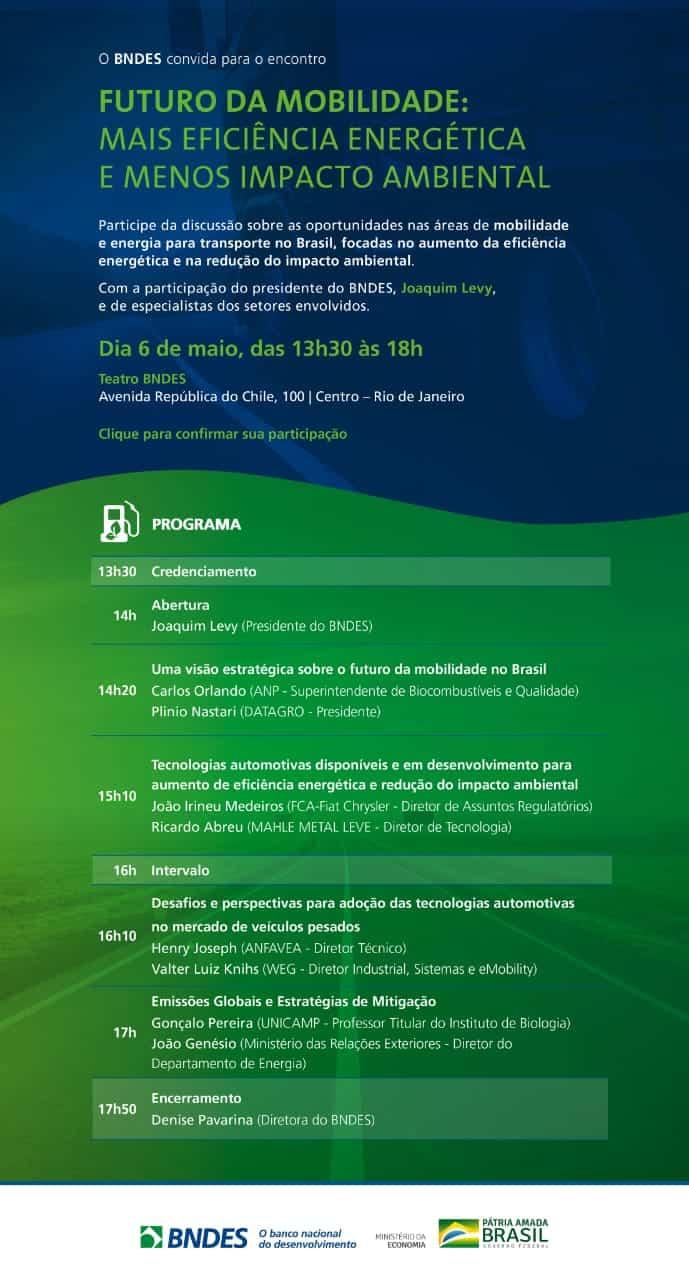 Futuro da Mobilidade: mais eficiência energética e menos impacto ambiental @ Rio de Janeiro