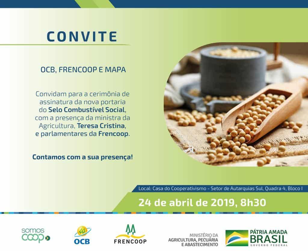 Cerimônia de assinatura da nova portaria do Selo Combustível Social @ Brasília-DF