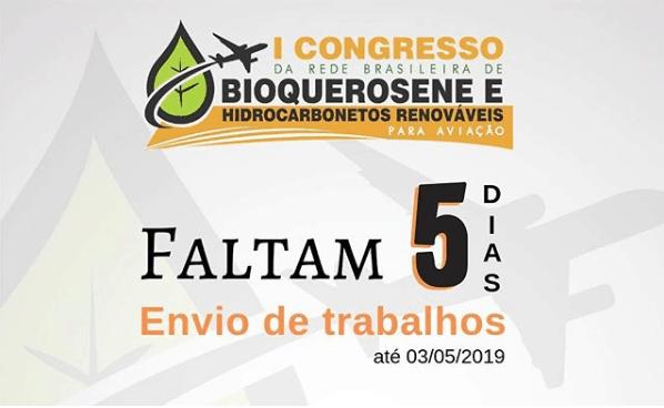 Confira a programação do I Congresso da Rede Brasileira de Bioquerosene