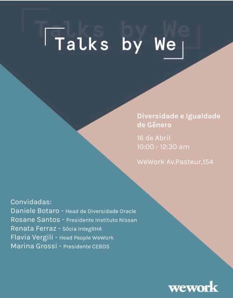 Talks by We - Diversidade e igualdade de gênero em debate @ Rio de Janeiro-RJ