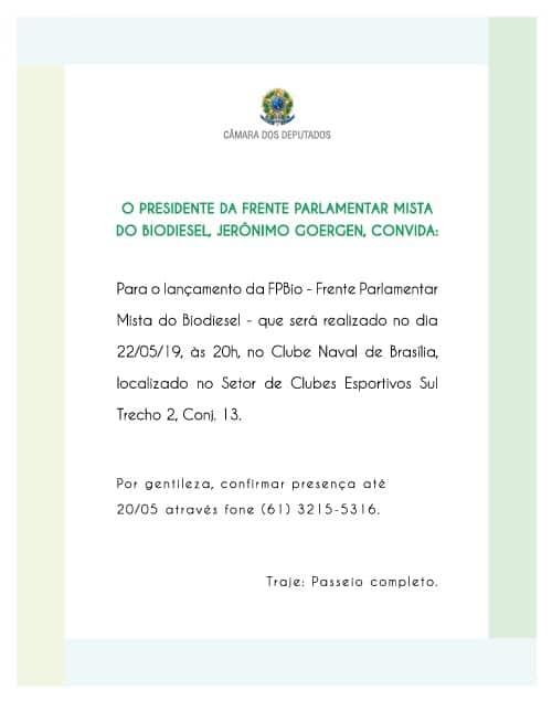 Lançamento da nova diretoria da Frente Parlamentar Mista do Biodiesel @ Brasília-DF
