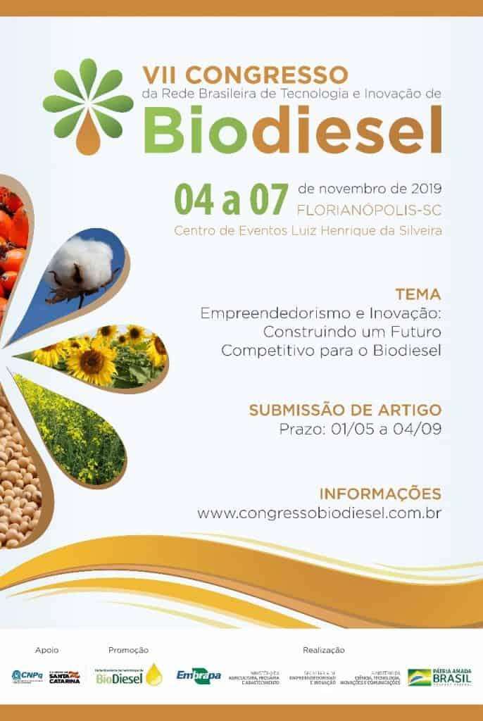 VII Congresso da Rede Brasileira de Tecnologia e Inovação de Biodiesel @ Florianópolis-SC