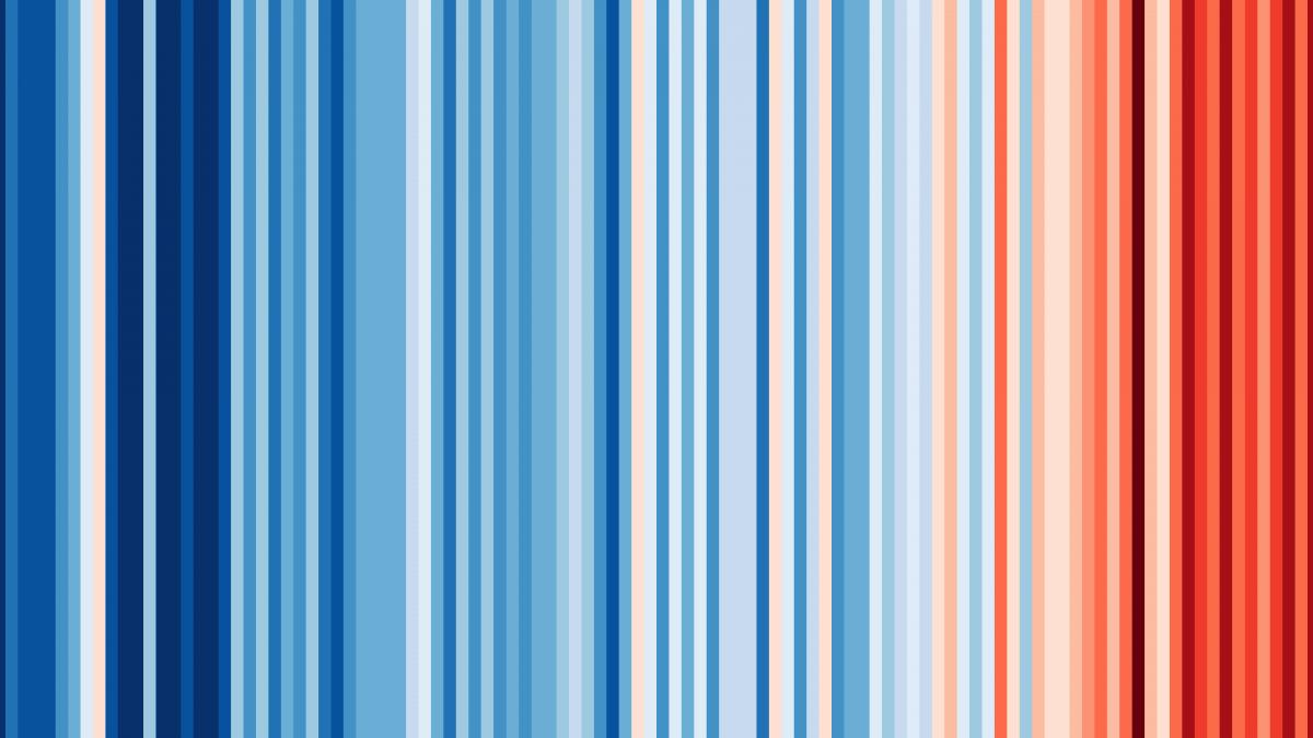 Este simples gráfico mostra o aquecimento global – e virou até gravata e caneca