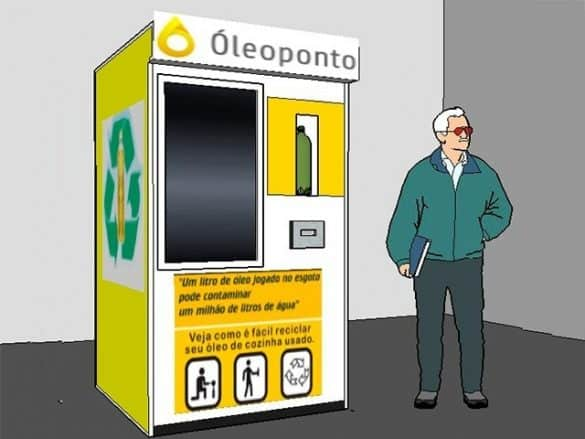 A máquina de descarte de óleo de cozinha usado foi patenteada e deve ficar pronta até janeiro de 2020 (Foto: Divulgação)
