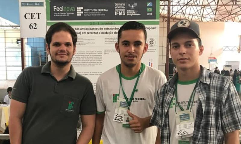 Estudantes do IFMS identificam antioxidante para o biodiesel em planta do cerrado