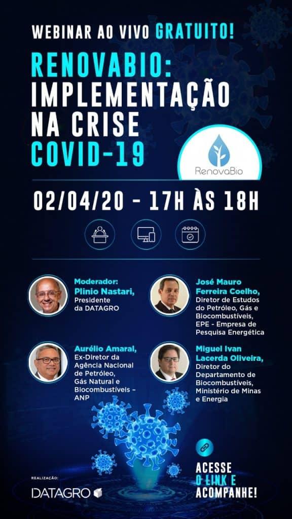 Webinar RenovaBio: implementação na crise COVID-19 @ Datagro