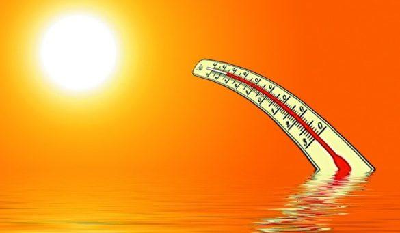 mês mais quente, onda de calor
