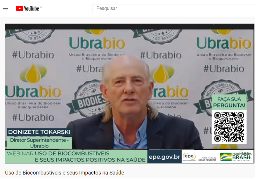 Diretor superintendente da Ubrabio destaca impactos positivos do biodiesel na saúde