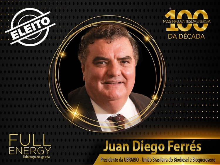 """Presidente da Ubrabio, Juan Diego Ferrés, é um dos """"100 mais Influentes da Energia da Década"""""""