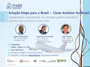 Webinar: Aviação Limpa para o Brasil – Combustíveis sustentáveis no contexto político brasileiro @ Online - MS Teams