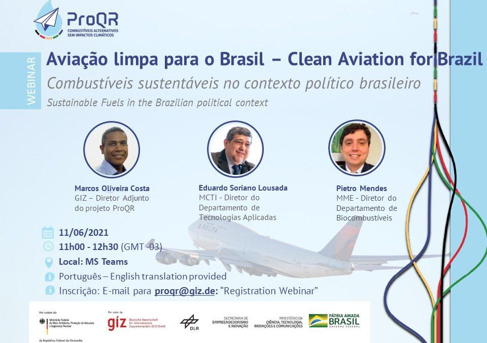 Webinar: Aviação Limpa para o Brasil – Combustíveis sustentáveis no contexto político brasileiro