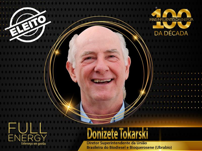 """Diretor superintendente da Ubrabio, Donizete Tokarski é eleito um dos """"100 Mais Influentes da Energia Década"""""""