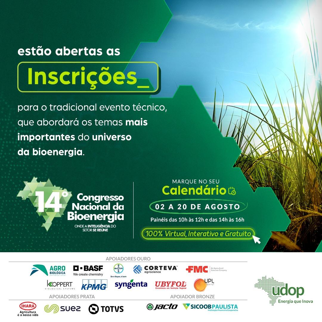 14ª Congresso Nacional da Bioenergia